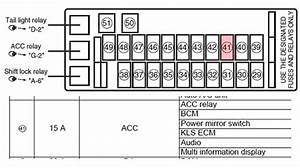 2005 Suzuki Aerio Fuse Box Diagram