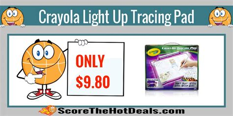 crayola light up tracing pad pink crayola light up tracing pad only 9 80 score the