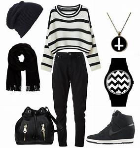 Casual Black & White Clothing Combinations For Women ...
