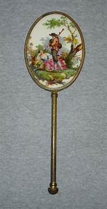 Antique Victorian Porcelain Portrait Hand Mirror ...