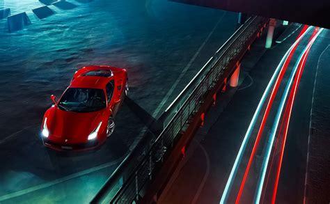ferrari  gtb car vehicle long exposure night