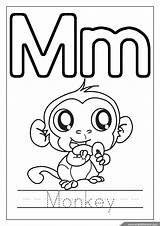 Coloring Alphabet Letter Pages Letters Monkey English Abc Printable Worksheets Englishforkidz Preschool Birthday Recognize sketch template