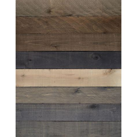 hardwood boards home depot 1 2 in x 4 in x 4 ft weathered hardwood board 8 piece actual 3 8 in x 3 7 8 in x 4 ft