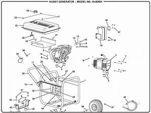 Husky Hu40501 5 000 Watt Portable Generator Parts And Accessories