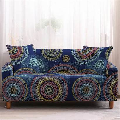 Sofa Couch Bohemian Multi Mandala Covers Slipcover