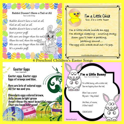 easter archives nuttin but preschool 762 | Four Songs For Easter for Preschool Kids