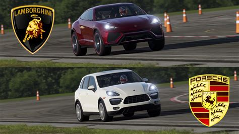 Lamborghini Urus vs Porsche Cayenne Turbo - Top Gear Track ...