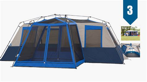 ozark trail 12 person instant cabin tent with screen room best 12 person tent cabins for large trail blazing families