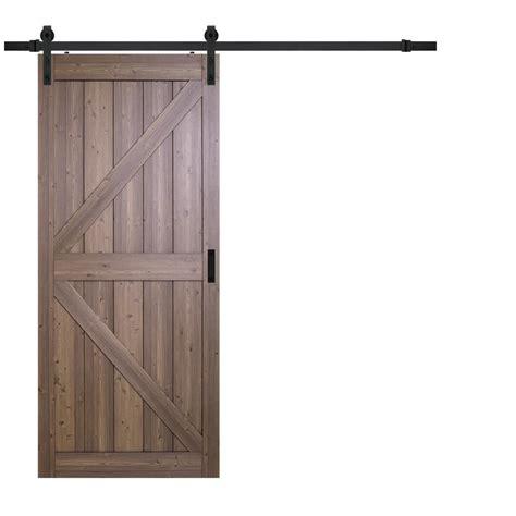 home hardware doors interior truporte 36 in x 84 in gunstock oak k design solid core interior barn door with rustic