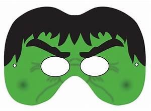 Printable halloween masks for Avengers mask template