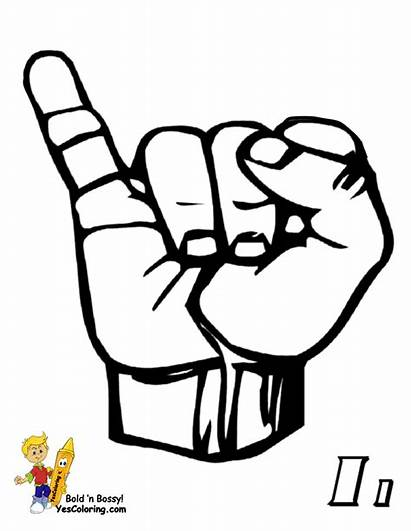 Language Sign American Letter Printable Asl Bossy