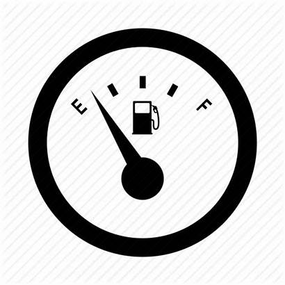 Gauge Fuel Empty Icon Gage Icons Gasoline