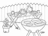 Bbq Coloring Pages Colouring Preschool Para Sketch Colorear Barbecue Printable Dibujos Sheets Template Adult Sketchite Activities Guardado Desde sketch template