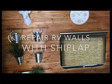 install shiplap rv wall repair window leak youtube