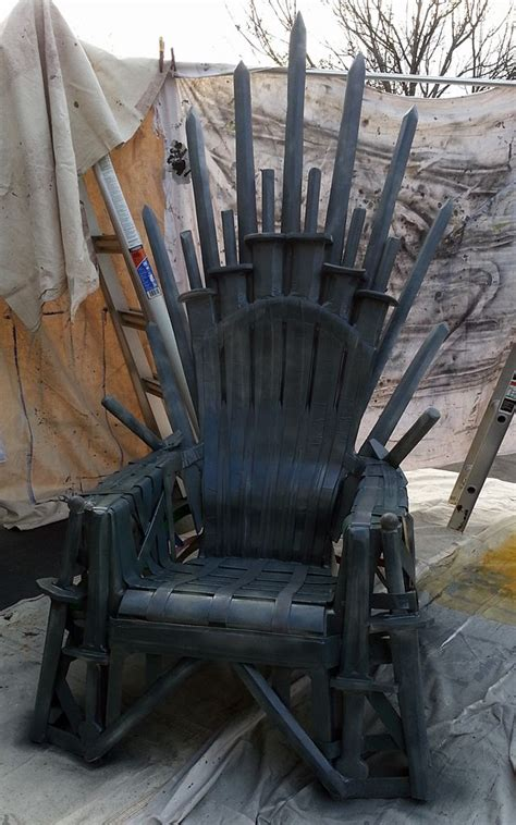how to make your own iron throne from a lawn chair wired