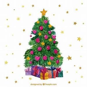 Weihnachtsbaum Mit Rosa Kugeln : aquarell vektoren fotos und psd dateien kostenloser ~ Orissabook.com Haus und Dekorationen