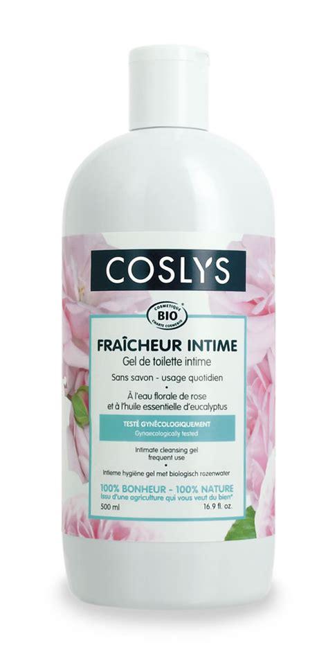 coslys gel de toilette intime eau florale de 500ml boutique bio