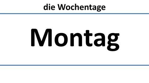 deutsch die wochentage deutsche untertiteldays