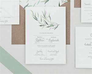 rustic greenery wedding invitations set eucalyptus With wedding invitations with eucalyptus