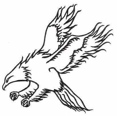 Hawk Outline Embroidery Designs Machine Stitchitize Embroiderydesigns