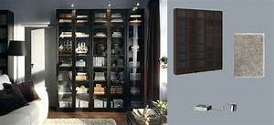 Ikea Billy Vitrine : billy biblioth ques brun noir avec portes en verre tremp et grundtal clairage vitrine en acier ~ Markanthonyermac.com Haus und Dekorationen