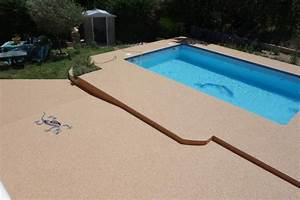 revetement ideal pourtour de piscine azur resine With revetement ideal pourtour de piscine
