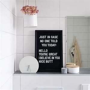 Uhr Für Badezimmer : letterboard im bad f r komplimente am morgen letterboard spr che uhr badezimmer bathroom ~ Orissabook.com Haus und Dekorationen