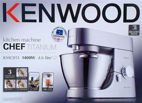 Kenwood Küchenmaschine Chef Titanum Event Kmc013 + Zerkleinerer At647 + Schüssel