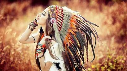 Native Headdress Anime Americans Wallpapers Brunette American