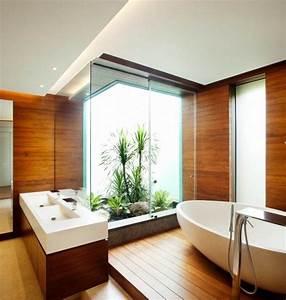 revetement mural salle de bain bois salle de bain With revetement mural bois salle de bain