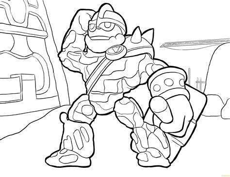 Crusher Skylanders Coloring Page Free Coloring Pages Online