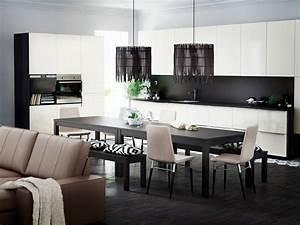Nowe kuchnie ikea metod kuchnie ikea w jak wnetrze w for Deco cuisine avec buffet salle a manger noir et blanc