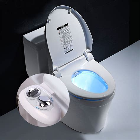 Toilet Attachment Bidet - non electric dual nozzle cleaning bidet toilet
