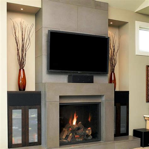 fireplace designs with contemporary fireplace designs with tv above ward log homes