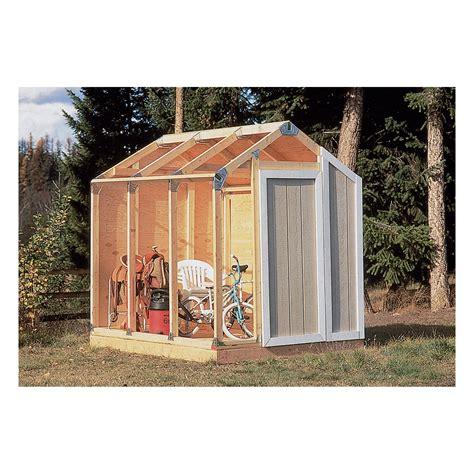 storage shed kits fast framer universal storage shed framing kit universal