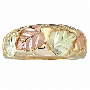 coleman tri color 10k black hills gold and 12k leaves With black hills wedding rings