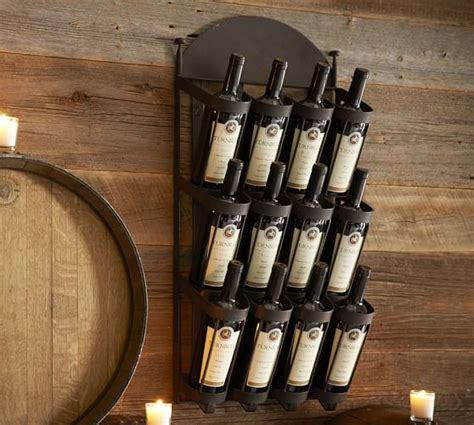 wine rack wall mount vintners wall mount wine rack pottery barn