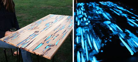 awesome diy table  glow   dark resin demilked