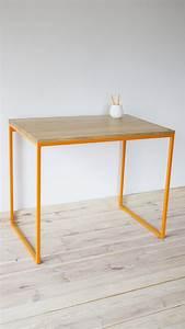 Schreibtisch Tisch HolztischIndustrial Orange Oak
