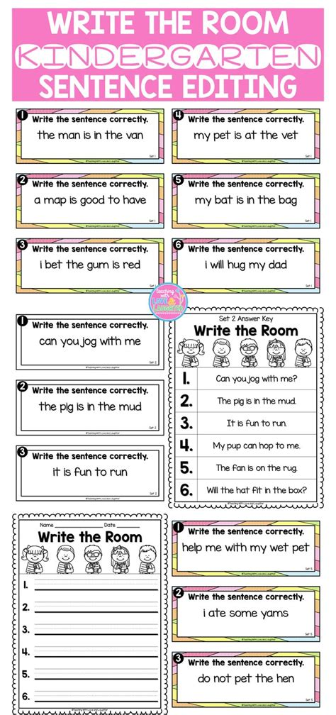 best 25 simple sentences ideas on simple 427 | 969bff2976247760c2c36e999054821b kindergarten capitalization fix it sentences kindergarten