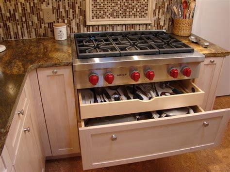 kitchen drawer pots pans utensils contemporary pot atlanta under cooktop utensil pittam associates inc ideabook question ask save email print