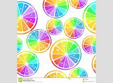 Lemons In Rainbow Colors Royalty Free Stock Photography