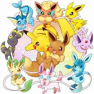 Eevee, Pikachu, Leafeon, Glaceon, Flareon, Jolteon ...