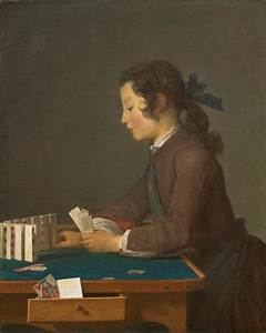 The House Of Cards  Probably 1737 By Jean Sim U00e9on Chardin