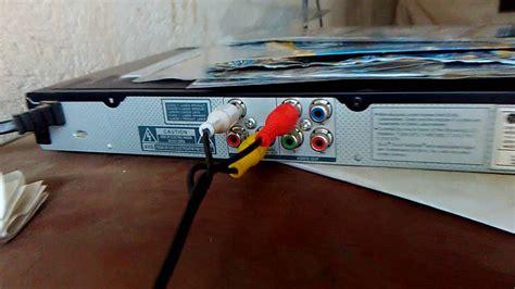 como conectar los cables dvd