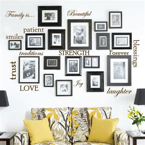 large white wall mirror set of 12 family quote words vinyl wall sticker picture