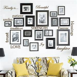 set of 12 family quote words vinyl wall sticker picture With word decals for walls ideas