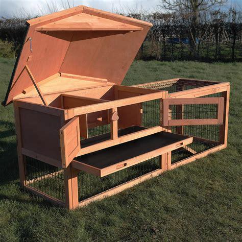 rabbit guinea pig hutch two tier verona rabbit hutch with run wood house pet bunny
