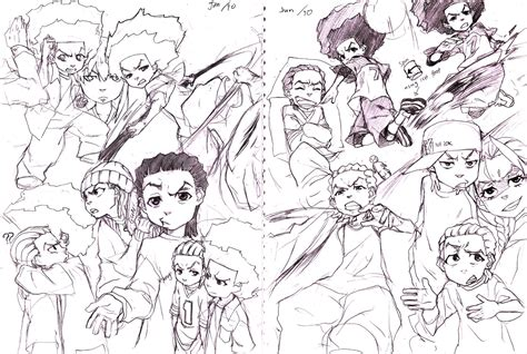 The Gallery For Boondocks Characters Drawings