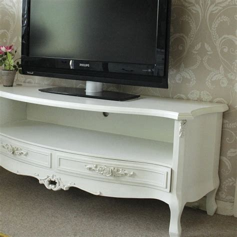 shabby chic tv ivory cream two drawer tv cabinet rose unit dvd television stand shabby chic